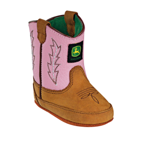 John Deere Crib : Tan Crazy Horse Pink - Toddler