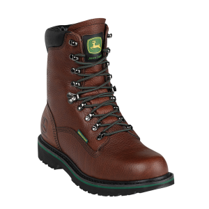 John Deere 8 Waterproof Lace-Ups : Dark Brown - Mens