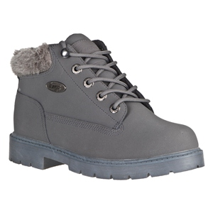 Charcoal/Dark Gray Lugz Drifter W/Fur