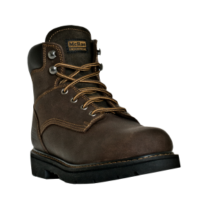 Dark Brown McRae 6 Inch Lace Up Steel Toe