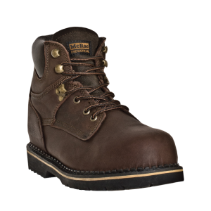 McRae Safety Toe Lace Up : Dark Brown - Mens