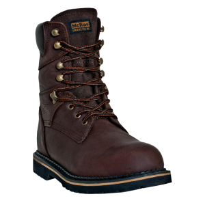 "Dark Brown McRae 8"" Steel Toe"
