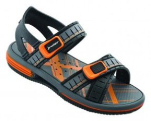 Gray/Black/Orange Rider Smash Sandal Kids