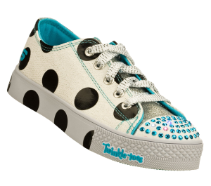 White Skechers Twinkle Toes: Super Steps
