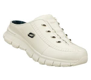 NavyWhite Skechers Flex Fit - Slam Dunk