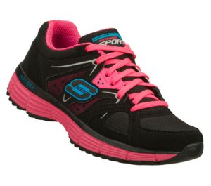 PinkBlack Skechers Agility - New Vision