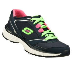Green-Coral-Navy Skechers Agility - Rewind