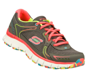 PinkGray Skechers Flex Fit - Fade Away