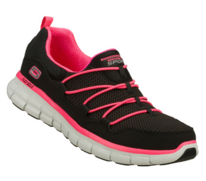 PinkBlack Skechers Synergy - Loving Life