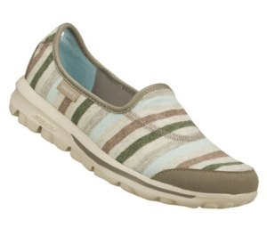 Gray Skechers Skechers GOwalk - Stripy