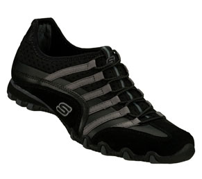 Black Skechers Bikers - Straightaway