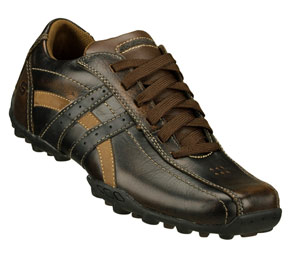 Brown Leather Skechers Talus-Ultimatum