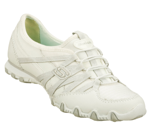 White Skechers Bikers - Verified