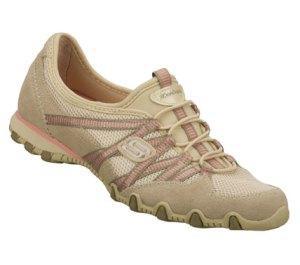 Brown Natural Skechers Bikers - Hot Ticket