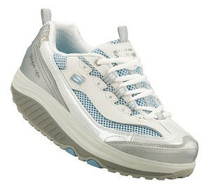 White Skechers SHAPE-UPS - JUMP START