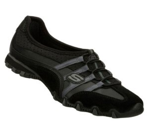 Gray Black Skechers Bikers - Point Blank