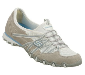 WhiteGray Skechers Bikers - Stereo Sound