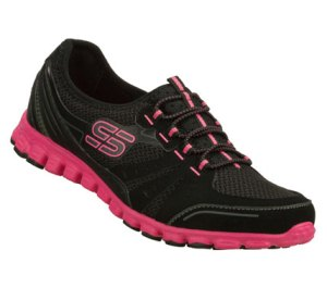 PinkBlack Skechers EZ Flex - Melody Maker