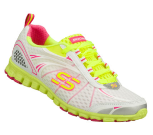 YellowWhite Skechers EZ Flex - Barbed Wire