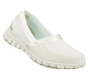 White Skechers EZ Flex - Take It Easy