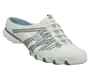 White Skechers Bikers - Nimble