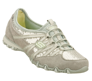 SilverGray Skechers Bikers - Flashy