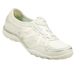White Skechers Relaxed Fit: Breathe Easy