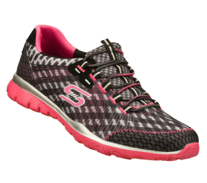 PinkBlack Skechers Eclipsed - Unbridled