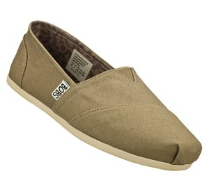 Natural Skechers Bobs Plush - Peace and Love