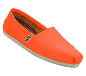 Orange Skechers Bobs - Zing