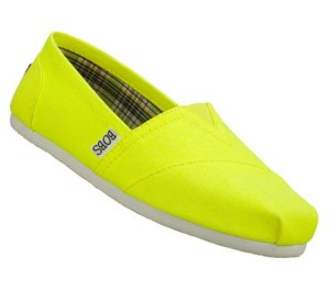 Yellow Skechers Bobs - Zing