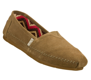 Natural Skechers Bobs Lux - Peace Sign