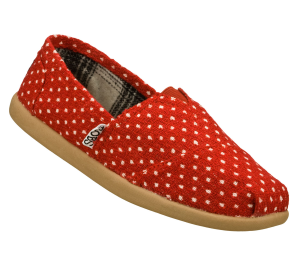 Red Skechers Bobs World - Polka Dottin