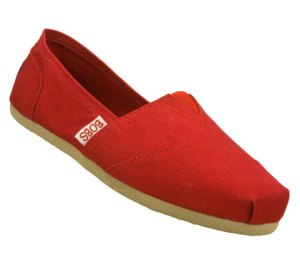 RedRed Skechers Bobs - Earth Day