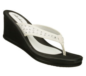White on Black Skechers Rumblers - The Malibu