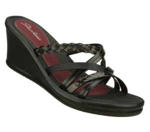 Black Skechers Rumblers - Sparks Fly