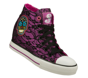 Purple Skechers Gimme - Skulls
