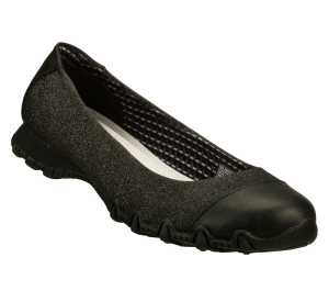 Black Skechers Relaxed Fit: Bikers - Glitzy Sparkle