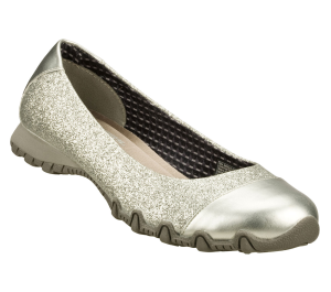 Silver Skechers Relaxed Fit: Bikers - Glitzy Sparkle