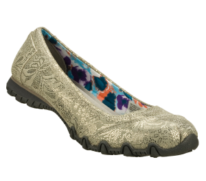 Gray Skechers Relaxed Fit: Bikers - Metal Lace