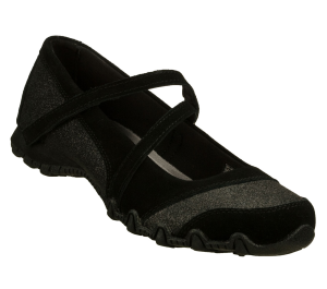 Black Skechers Relaxed Fit: Bikers - Time Out