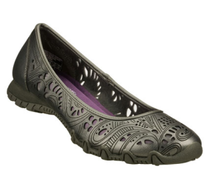 Silver Skechers Relaxed Fit: Bikers - Laser Lace