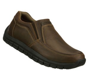 Brown Skechers Work: Relaxed Fit Magma - Solace