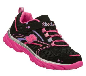 PinkBlack Skechers Lite Waves - Skybeam