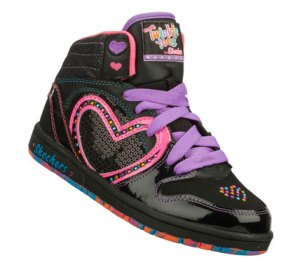 MultiBlack Skechers Sugarcanes - Heart N Soul