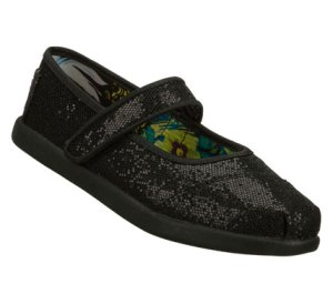 Black Skechers Bobs World - Sassy Sparklez