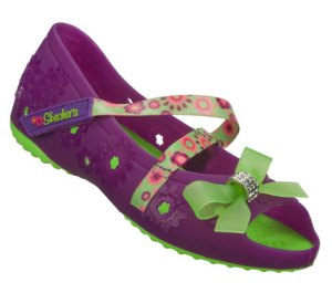 Green Purple Skechers Doodles