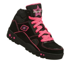 PinkBlack Skechers Beatsters