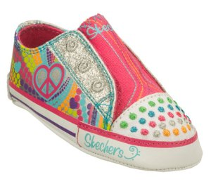 Multi Silver Skechers Twinkle Toes: Baby Sparks