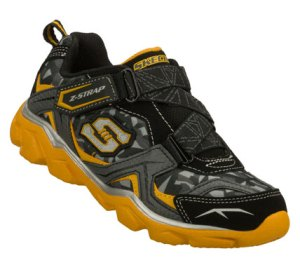 GoldBlack Skechers Serrated